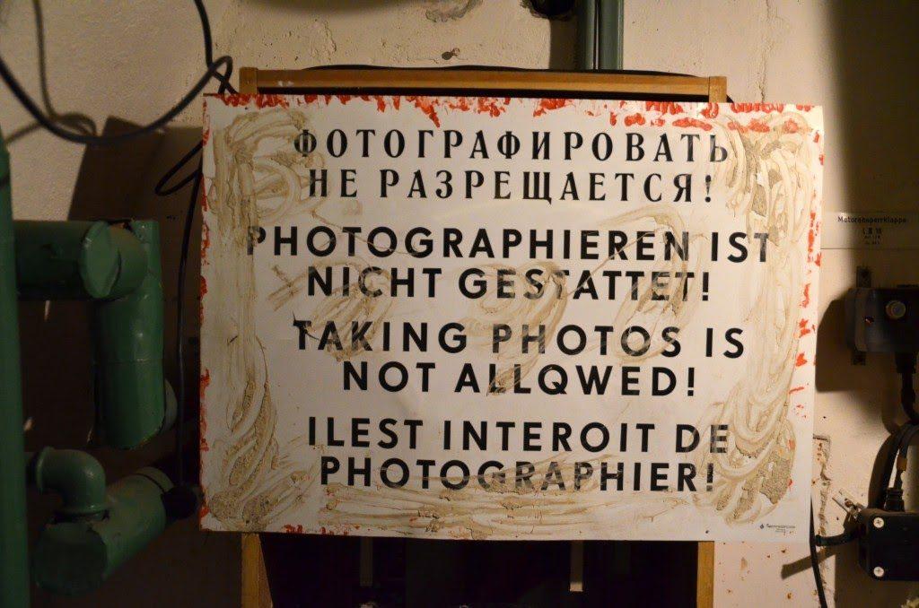 Fotografieren nicht gestattet!